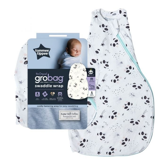 The Original Grobag Little Pip Swaddle Wrap with packaging