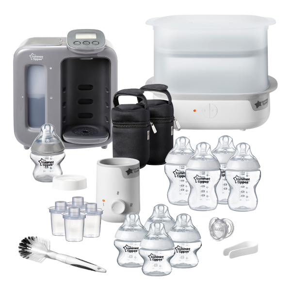 Complete Bottle Feeding Bundle, Grey