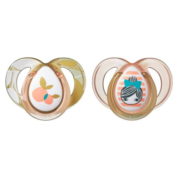 Moda Soothers, peach (18-36 months) - 2 pack