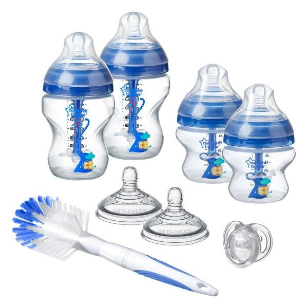 Advanced Anti-Colic Newborn Starter Kit, blue
