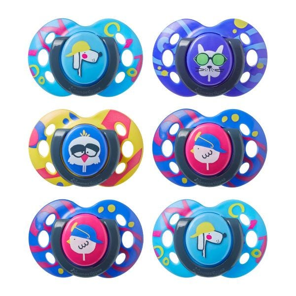 Fun Style Soother (6-18 months) - 6 pack