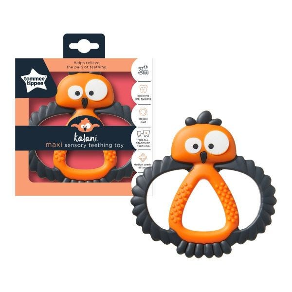 Kalani Maxi Sensory Teething Toy - orange