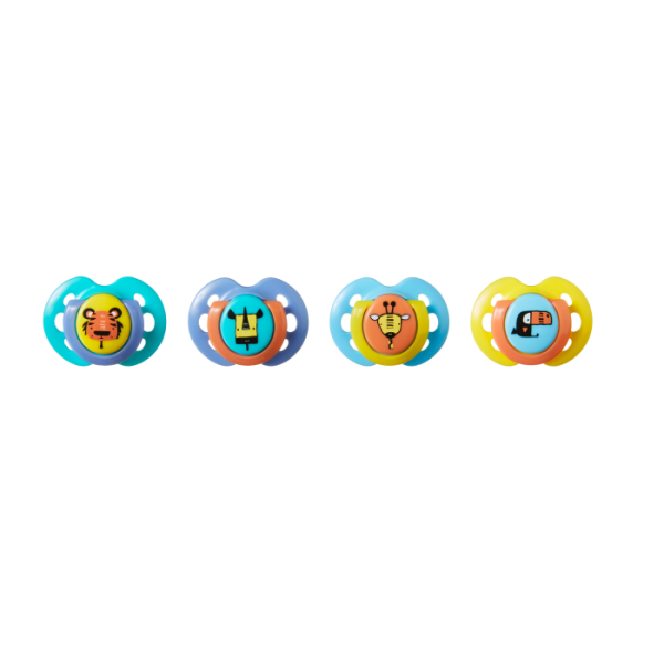 Fun Style Pacifier (0-6 months) - 4 Pack