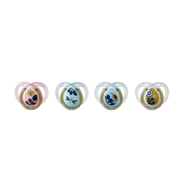 Moda Pacifiers  (0-6 Months) - 4 pack