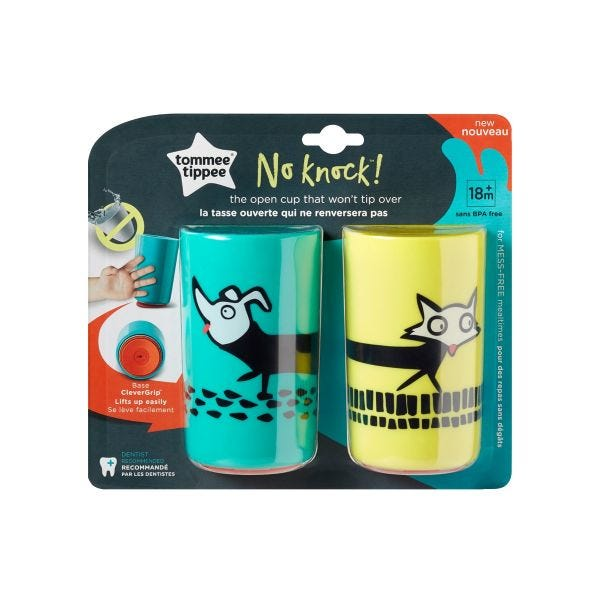 No Knock Cup, Dog & Fox (18 months+) - 2 pack