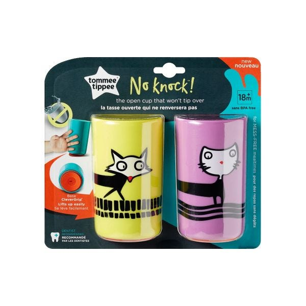 No Knock Cups, Cat & Fox (18 months+) - 2 pack