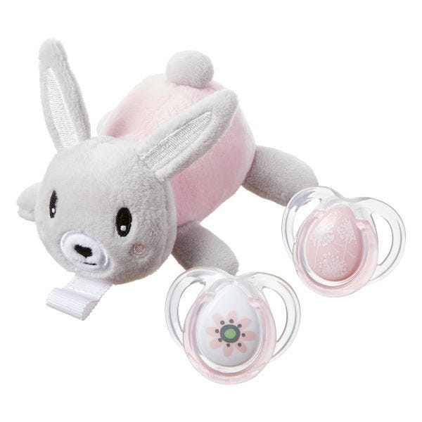Bunny Paci Snuggie Stuffed Animal