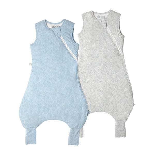 The Original Grobag Blue & Grey Marl Steppee Twin Pack 6-18/18-36m
