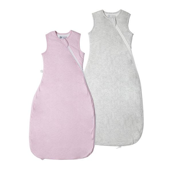 The Original Grobag Pink & Grey Marl Sleepbag Twin Pack 6-18/18-36m