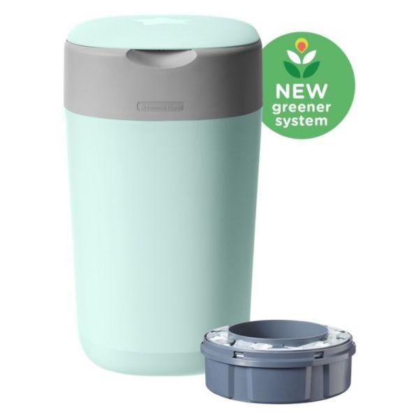 Twist & Click Nappy Disposal Bin, green