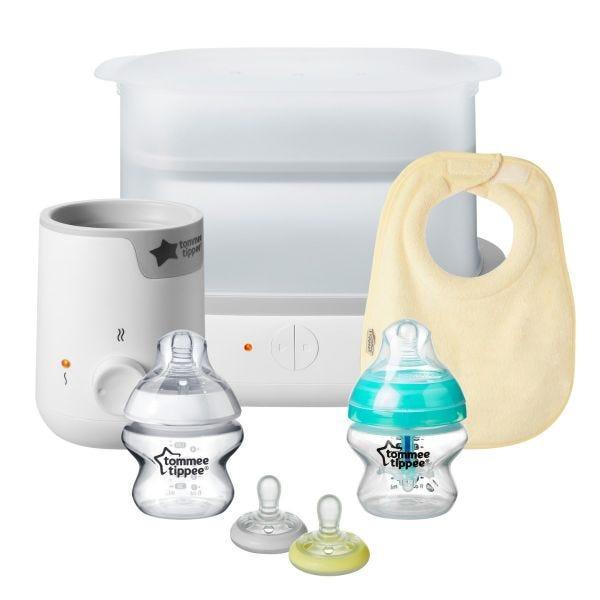 New Parent Baby Bottle Starter Set, White