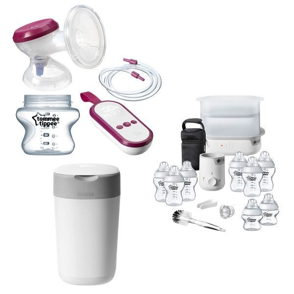 Single Electric Breast Pump Complete Feed & Change Bundle