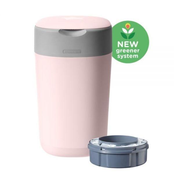 Twist & Click Nappy Disposal Bin, pink