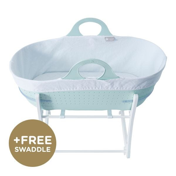 Sleepee Moses Basket with Stand, Green