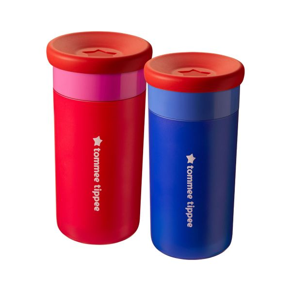 Easiflow 360° Cup, pink - 2 pack (12 months+)