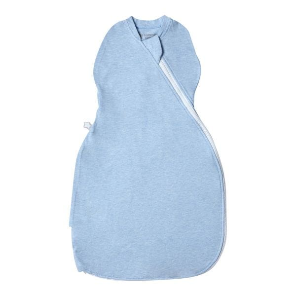 The Original Grobag Blue Marl Easy Swaddle 0-3m