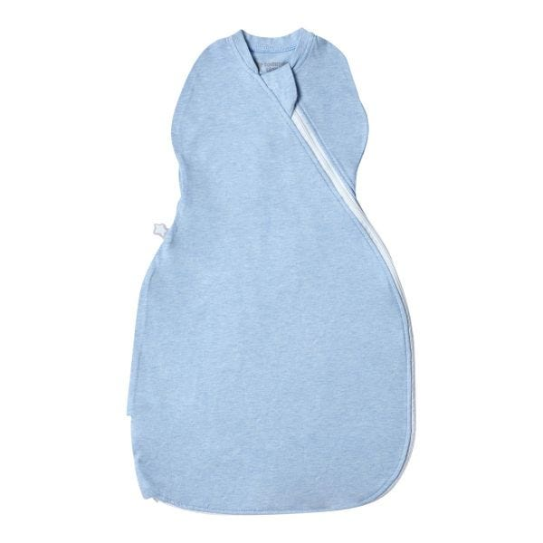 The Original Grobag Blue Marl Easy Swaddle, 0-3 months