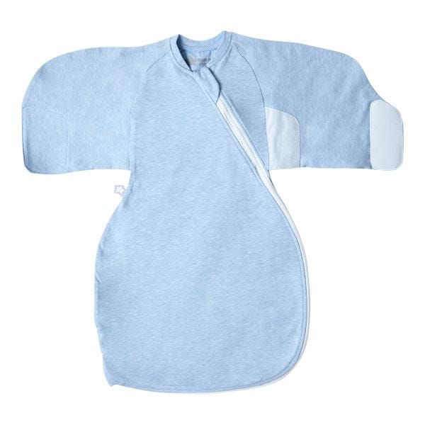 Blue Marl Swaddle Wrap open flat