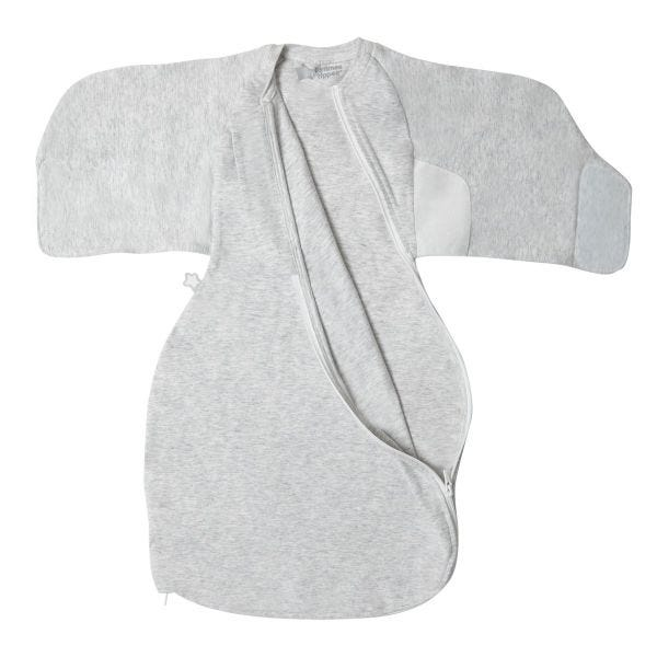 Grey Marl Swaddle Wrap flat