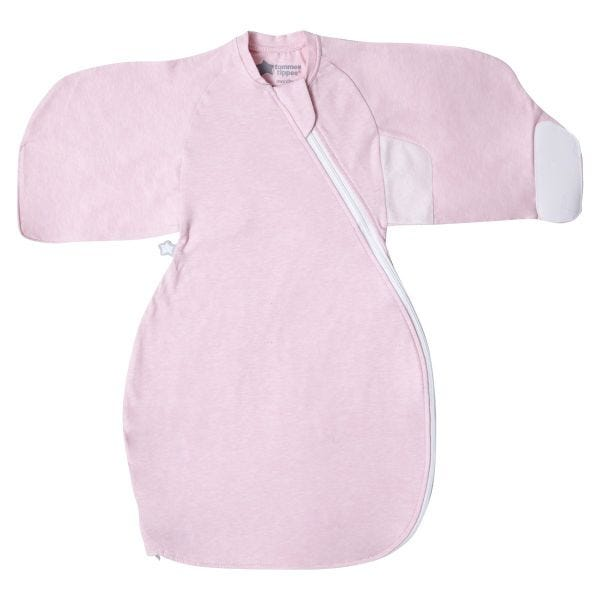The Original Grobag Pink Marl Swaddle Wrap, 0-3 months