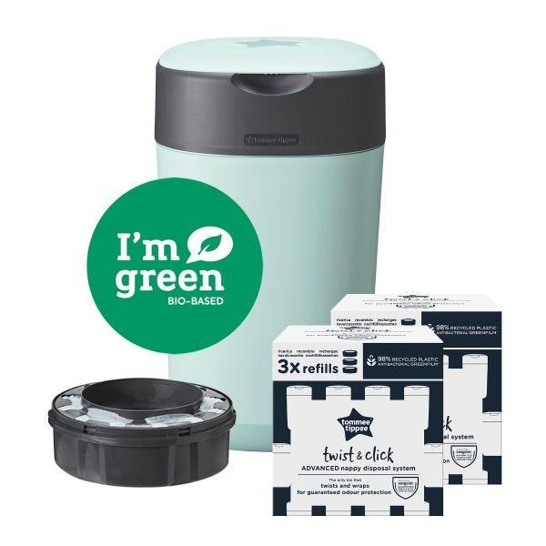 Twist & Click Starter Set Green with 6 Refills