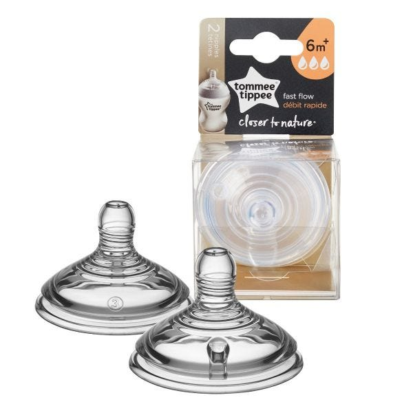 Closer to Nature Fast Flow Nipples - 2 pack