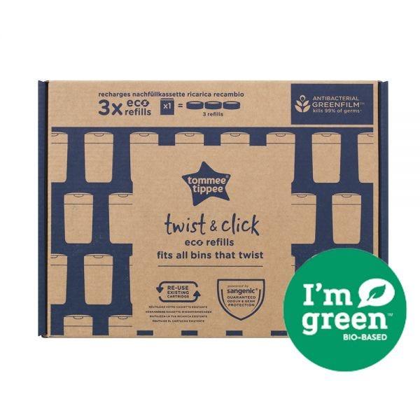 Twist & Click Nappy Bin Eco-Refills - 3 pack