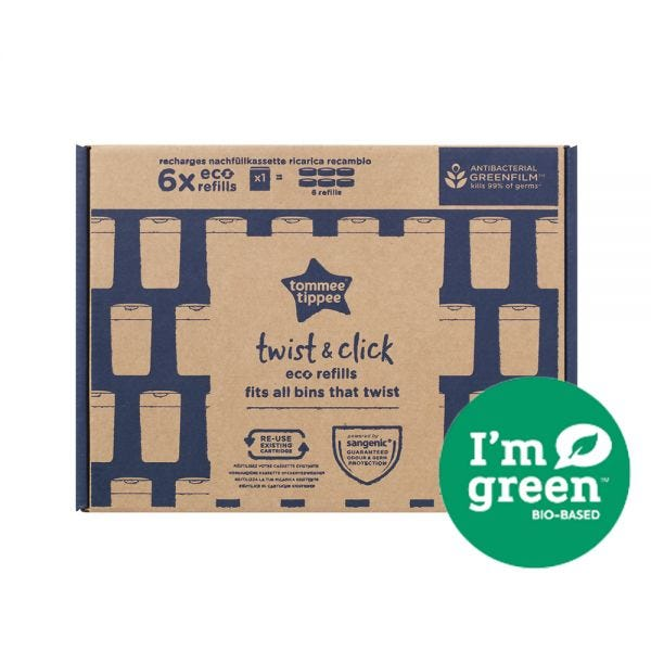 Twist & Click Nappy Bin Eco-Refills - 6 pack