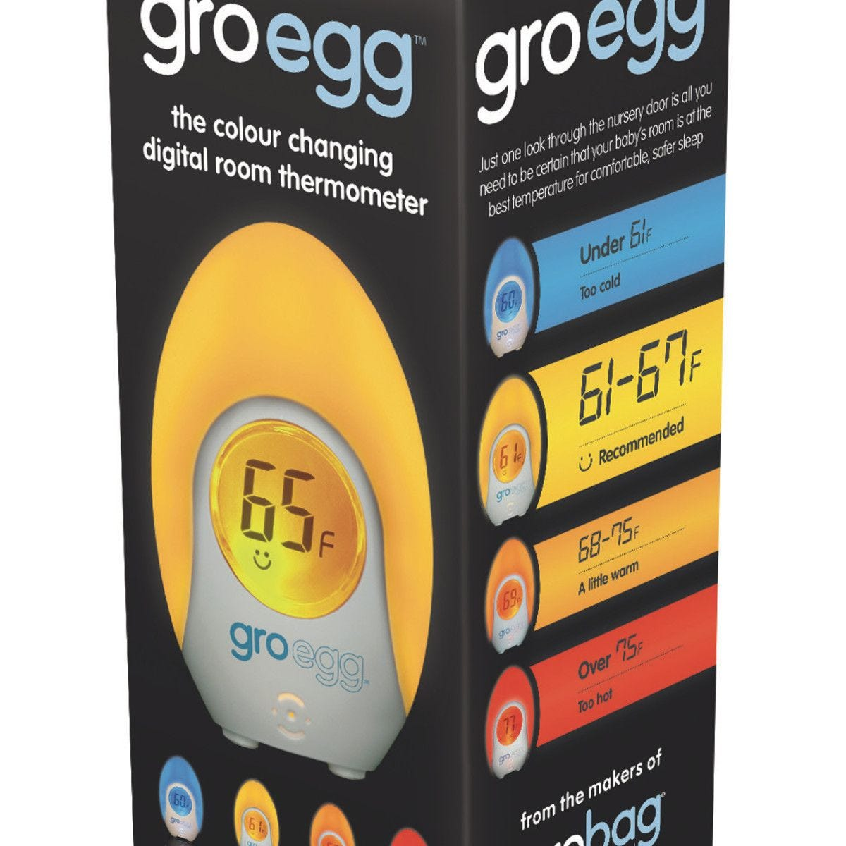 The Gro Company groegg couleur changeante salle Thermomètre