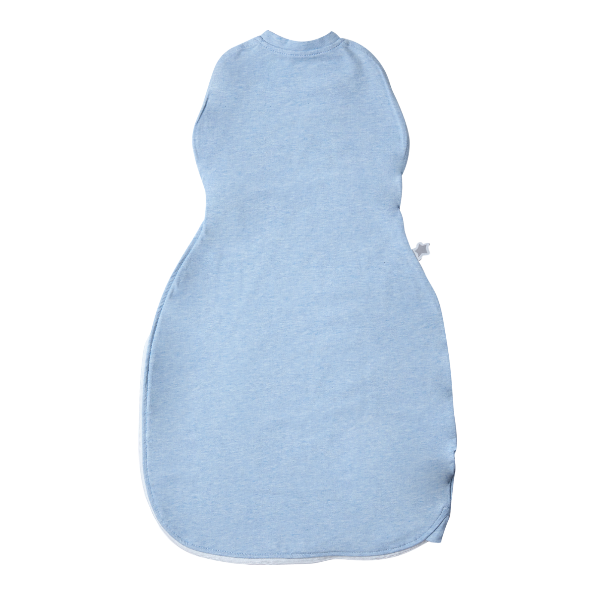 Blank EASY TOUCH Fastening Bibs in Grey Marl PACK OF 12