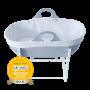 Grey Sleepee Moses Basket with Stand