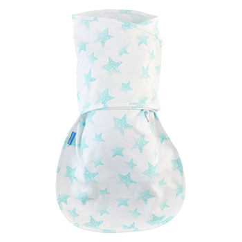 Groswaddle Product blue and white pattern