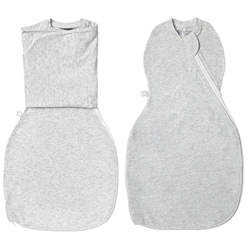 Swaddle Wrap and Easy Swaddle Support in grey