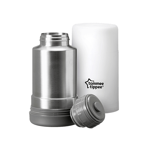 Travel Bottle and Food Warmer in white and grey