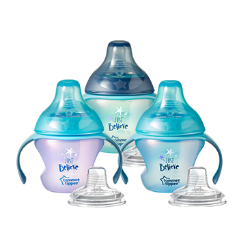 Transition Sippee Trainer Cups with handles and clear teats